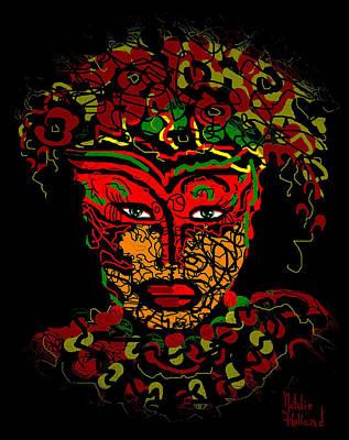 Masked Beauty Art Print by Natalie Holland