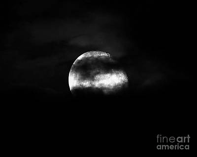 Waning Gibbous Moon Photograph - Masked Moon by Al Powell Photography USA
