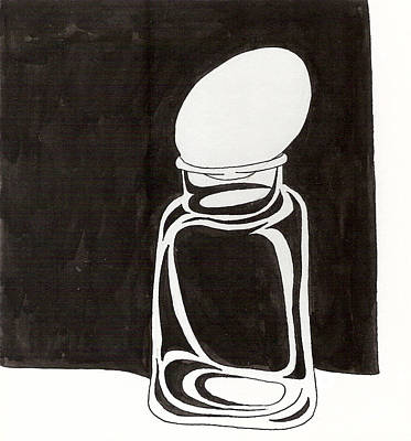 Drawing - Mason Jar Egg by Phil Burns