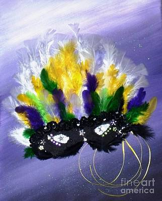 Art Print featuring the painting Masque Over Bourbon Street by Alys Caviness-Gober