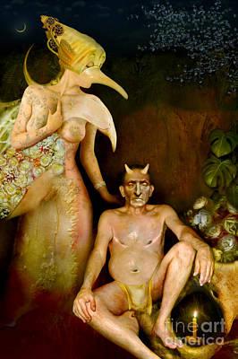 Masquerade - Beyond The Comedy Art Print by Alexei Solha