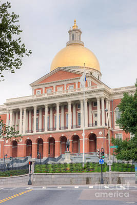 Massachusetts State House I Art Print by Clarence Holmes