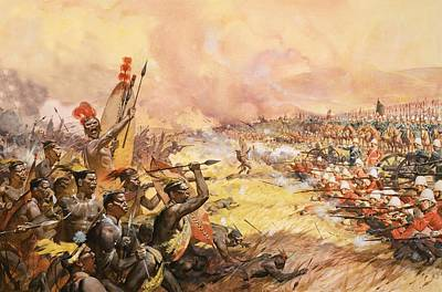 Soldier Painting - Massacre At Ulundi by James Edwin McConnell