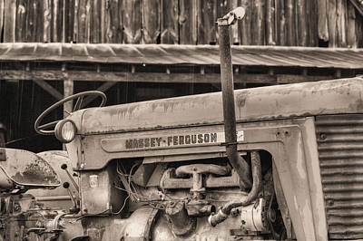 Fauquier County Virginia Photograph - Massey Ferguson Bw by JC Findley