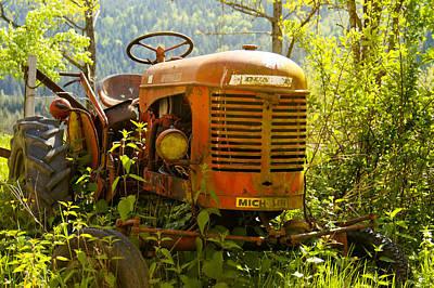 Massey Ferguson Tractor Art Print by Georgia Fowler
