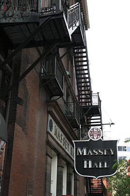 Massey Hall Wall Art - Photograph - Massey Hall One by Alan Rutherford