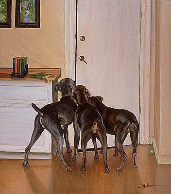 Dog At Door Painting - Master's Home by Barbara Walker