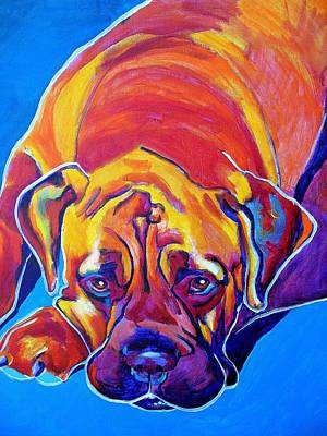 Mastiff Dog Painting - Bullmastiff - Sahara by Alicia VanNoy Call
