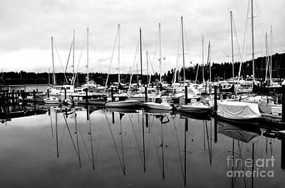 Masts Over And Under Art Print by Tanya  Searcy