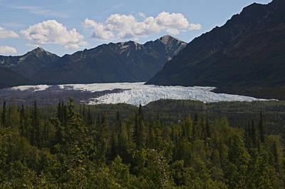 Matanuska Glacier Art Print by George Hawkins