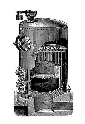 Mathian Steam Boiler Art Print by Mark Sykes
