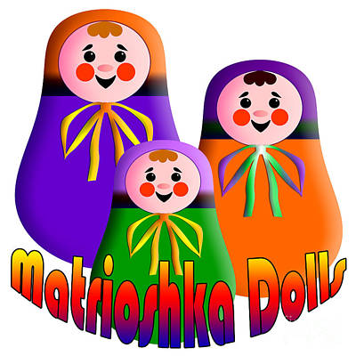 Digital Art - Matrioshka Dolls by Zaira Dzhaubaeva