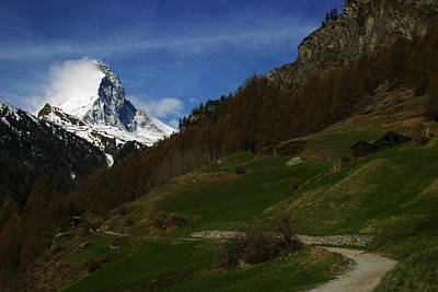 Photograph - Matterhorn From Zermatt Switzerland  by Benjamin Dahl