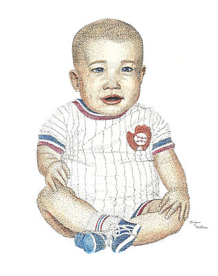 Baseball Uniform Drawing - Matthew by Brian Wallace