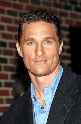 At Talk Show Appearance Photograph - Matthew Mcconaughey At Talk Show by Everett