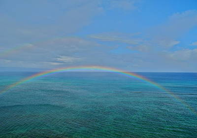 Photograph - Maui Double Rainbow by Kirsten Giving