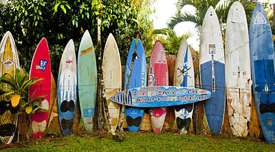 Surfboard Fence Photograph - Maui Surfboard Fence 5 by Rosanne Nitti