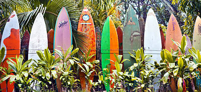 Target Threshold Photography - Maui Surfboard Fence2 by Rosanne Nitti