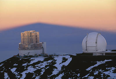 Keck Telescope Photograph - Mauna Kea Observatory, Hawaii by G. Brad Lewis