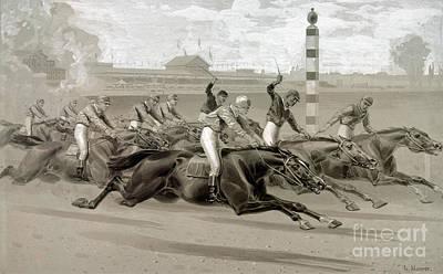 Maurer: Horse Race Art Print by Granger
