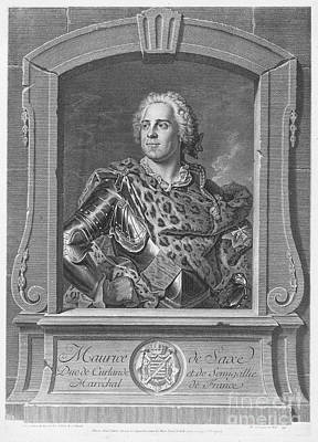 Saxe Photograph - Maurice Of Saxony by Granger