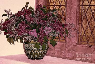 Mauve Bouquet Art Print