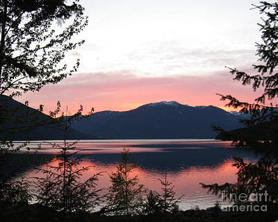 Photograph - May Sunset On Kootenay Lake by Leone Lund