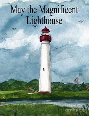 Painting - May The Magnificent Lighthouse  by Nancy Patterson