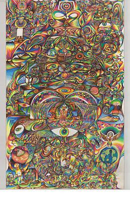 Maya Creation Art Print by Jonathan DiNo DiNapoli