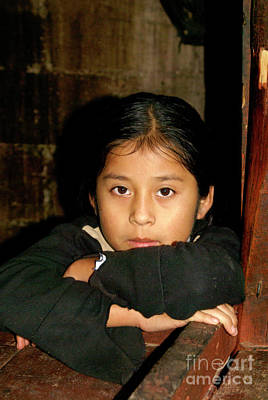 Photograph - Maya Girl Coban Guatemala by John  Mitchell