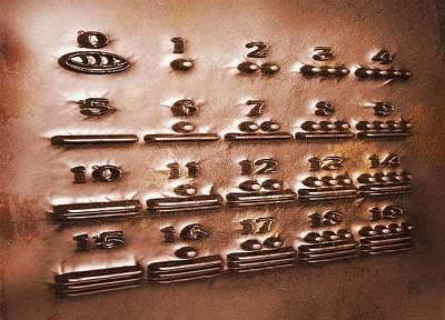 Maya Civilization Photograph - Maya Numerals, Artwork by Victor Habbick Visions