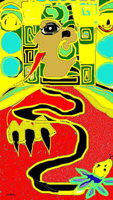 Photograph - Maya Red Yellow Turquoise by Doug Duffey
