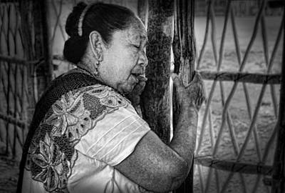 Maya Woman Art Print by Andrew Xenios