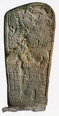 Stela Photograph - Mayan Calendar Stele, 9th Century by Photo Researchers