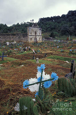 Photograph - Mayan Cemetery Chiapas Mexico by John  Mitchell