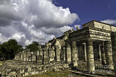 Photograph - Mayan Colonnade by Ken Frischkorn