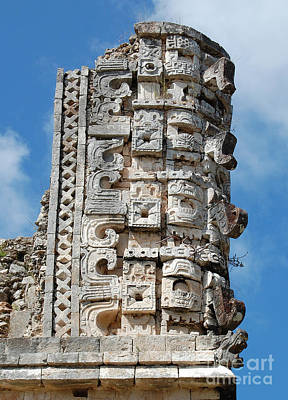 Photograph - Mayan Glyphs At Uxmal Mexico by Shawn O'Brien