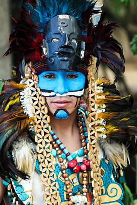 Photograph - Mayan Mask by Elizabeth Hart