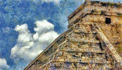 Pyramids Digital Art - Mayan Mysteries by Jeff Kolker
