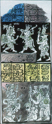 Primitive Art Photograph - Mayan Number System, Codex Dresdensis by Photo Researchers
