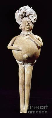 Photograph - Mayan Rattle, 200-900 A.d by Granger