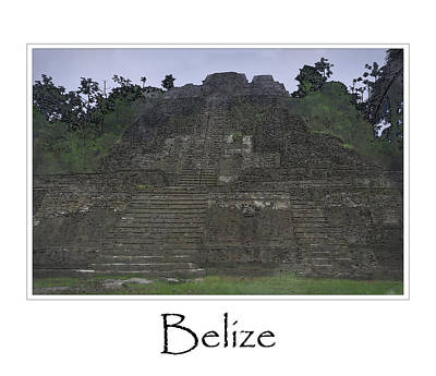 Historic Site Digital Art - Mayan Temple by Brandon Bourdages