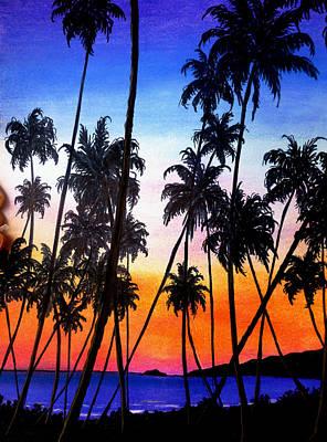 Mayaro Red Dawn Art Print by Karin  Dawn Kelshall- Best