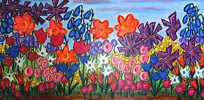 Maya's Garden Art Print