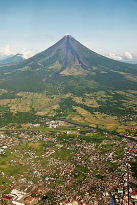 Mayon Photograph - Mayon Volcano And Legazpi City by Kay Dulay