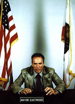 Mayor Clint Eastwood Of Carmel, Ca, 1987 Print by Everett