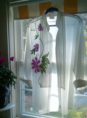 Passion Flower Vine Painting - Maypop Tuxedo Shirt by Nancy Rutland