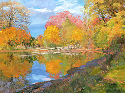 Mayslake At Fall Art Print by Judith Barath