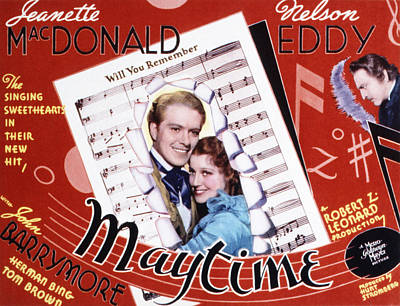 Posth Photograph - Maytime, Nelson Eddy, Jeanette by Everett