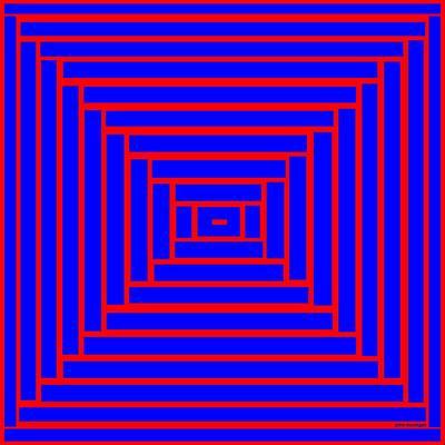 Digital Painting - Maze 6 by John McColgan
